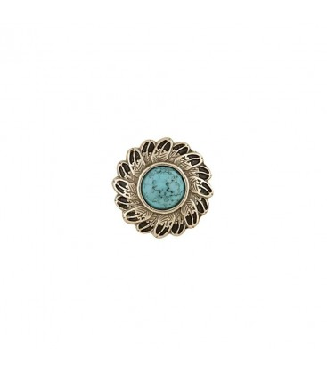 Ornament Turquoise Feather Tandy Leather SUA
