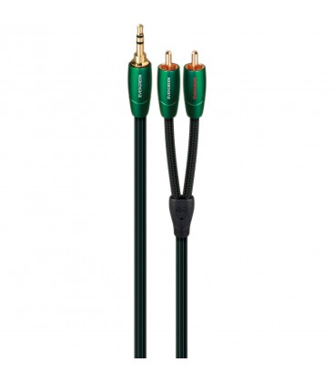 CABLU AUDIO STEREO INTERCONECT JACK 3.5MM - 2RCA AUDIOQUEST TOWER EVERGREEN 0.6 m