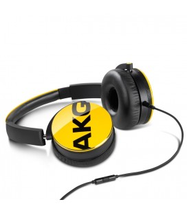 Casti AKG Y50 Yellow, casti on ear cu microfon