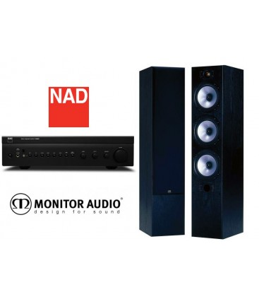 Amplificator NAD C 326BEE cu Boxe Monitor Audio MR6