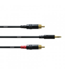 Cablu stereo interconect Cordial CFY 3 WCC jack 3.5-RCA, 3.0m