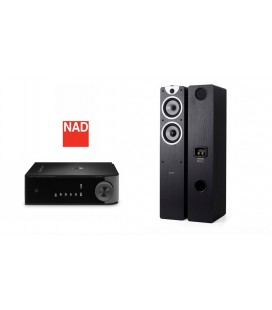 Amplificator NAD D3020 cu Boxe Boxe Dynavoice Magic F6 EX Black