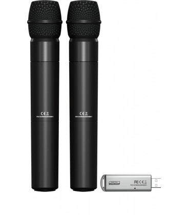 SET Microfon Wireless BEHRINGER ULM202USB, 2 bucati si adaptor USB