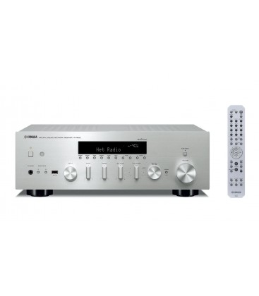 Receiver Stereo Yamaha R-N602 Silver, Wi-Fi, Bluetooth, Airplay, MusicCast