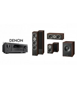 Receiver DENON AVR-X2300 cu Set Boxe 5.1 Magnat Supreme 1002, Center 252, 202, Sub 302A