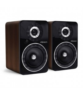 Boxe active Wireless cu Bluetooth Elipson Prestige Facet 6B BT Phono Black Walnut - pereche