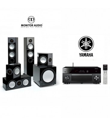 **Receiver Multicanal Yamaha RX-A3070 cu set boxe 5.1 Monitor Audio Silver 10 5.1 pack
