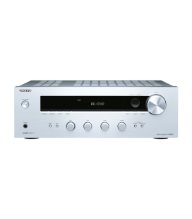 Receiver stereo Hi-Fi Onkyo TX-8020 Silver, Tuner, Phono Input, Optical in
