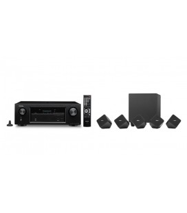 Receiver AV Denon AVR-X520BT cu Set boxe 5.1 surround Denon SYS-2020
