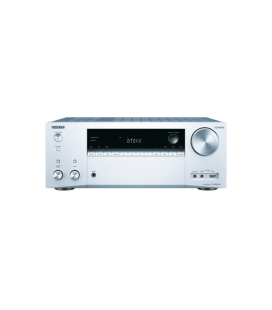 Network A/V Receiver 7.2 Onkyo TX-NR676 Silver, DTS:X, Dolby Atmos®, Chromecast, Bluetooth®, Wi-Fi®, Spotify, FlareConnect