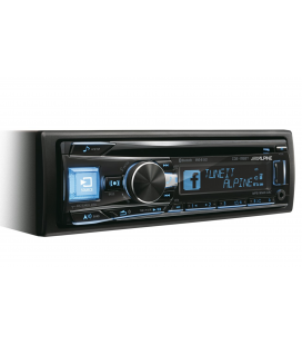 MP3 player auto Alpine CDE-195BT, Bluetooth®, Bass Engine SQ, Digital Time Correction, Aux-in, made for iPod/iPhone®