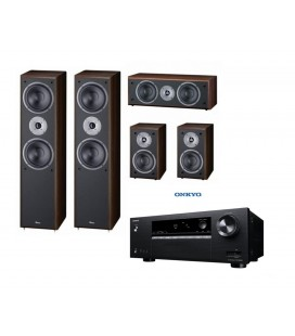 Receiver AV 5.1 Onkyo TX-SR252 Black cu set Boxe 5.0 Magnat Supreme 802, 102, CENTER 252