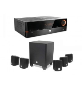 Network Receiver 5.1 JBL AVR101N cu Set Boxe 5.1 JBL Cinema 510