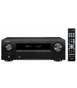 Bluetooth® Receiver AV 5.2 Denon AVR-X250BT, 130W per channel, Bluetooth®, HDR, Auto Setup, Eco mode, Remote App
