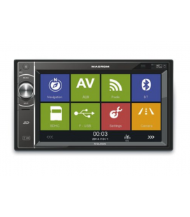 "DVD Auto 2 DIN Macrom M-DL5000, 4x45 W, Touch screen 6.2"", USB, SD, Bluetooth, GPS, Black"