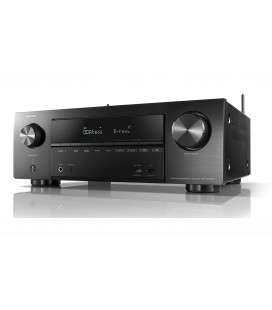 Network Receiver AV 7.2 Denon AVR-X1500H, 145W per channel, HEOS built-in, Wi-Fi, Airplay, Bluetooth, 4K Ultra HD, Hi-Res