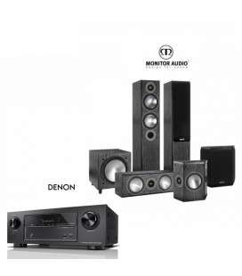 Network AV Receiver Denon AVR-X1500H cu Set Boxe 5.1 Monitor Audio Bronze 5 SET 5.1