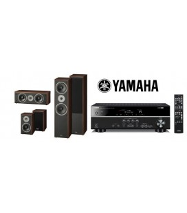 Bluetooth® Receiver Yamaha RX-V385 cu Set de Boxe 5.0 Magnat Supreme 802, 102, Center 252