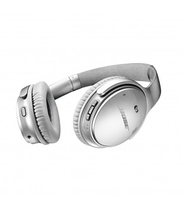Casti Wireless cu Bluetooth si Noise Canceling Bose QuietComfort 35 Silver II, Bluetooth, NFC, Google Assistant