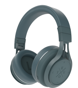 Casti Bluetooth Wireless KYGO A9/600 STORM GREY, Fast charging NFC pairing aptX® and AAC® codecs