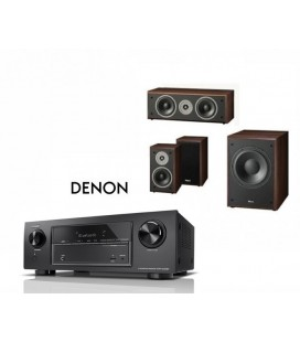 Network Receiver DENON AVR-X1600H cu Set Boxe 3.1 Magnat Supreme 102, center 252, Sub 202a