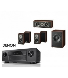 Receiver DENON AVR-X1400H cu Set Boxe 5.1 Magnat Supreme 102, center 252, Sub 202a