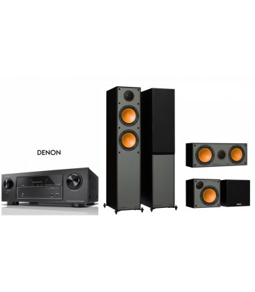 Network AV Receiver 7.2 DENON AVR-X1500H cu Set Boxe 5.1 Monitor Audio Monitor200, center c150, Surround C50