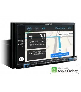 "DVD auto Alpine iLX-702, 2DIN, Apple CarPlay, Android Auto, 7"" TOUCHSCREEN, 4x50W, USB"
