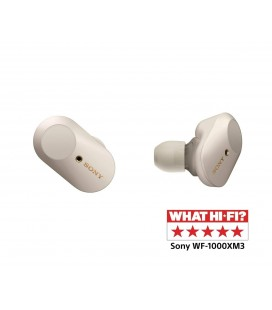 Casti Wireless Bluetooth in ear cu Noise Cancelling Sony WF-1000XM3 White, NFC, DSEE HX, Bluetooth 5.0