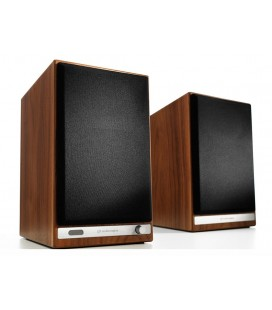 Boxe wireless cu Bluetooth AUDIOENGINE HD3 Walnut, 2x15W RMS, USB, AUX