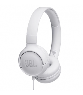 Wired on-ear headphones JBL Tune 500 White, Ask Siri or Google Now
