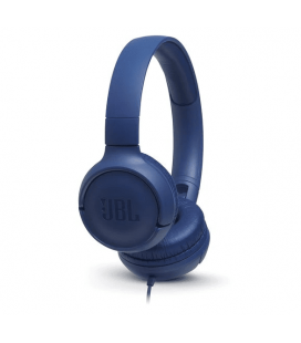 Wired on-ear headphones JBL Tune 500 Blue, Ask Siri or Google Now