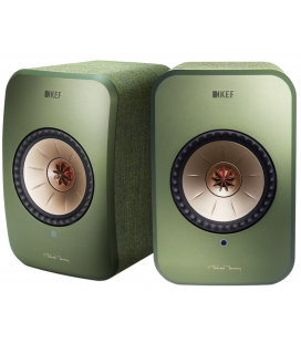 Boxe wireless KEF LSX GREEN Wireless Stereo Music System, Bluetooth 4.0 aptX®, TOSLINK Optical,  2X100W RMS - pereche