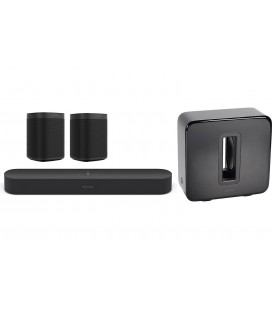 SET 5.1 SOUNDBAR SONOS BEAM BLACK, SONOS ONE GEN II, SONOS SUB
