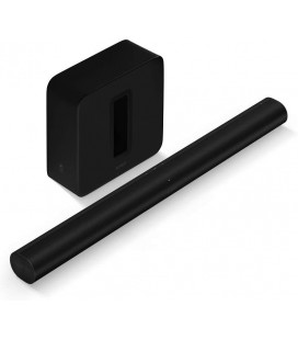 Soundbar PACK: SONOS ARC cu SONOS SUB (GEN 3) BLACK, AirPlay 2, 3D sound with Dolby Atmos, Amazon Alexa, Google Assistant