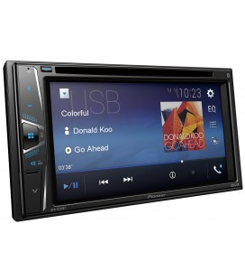 DVD Player Auto PIONEER AVH-G210BT, 2DIN, CD/DVD, Ecran tactil 6.2 inch, Bluetooth, 4x50W, USB, AUX, iesire video