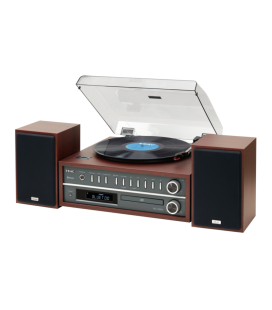 Microsistem Stereo Hi-Fi TEAC MC-D800 CHERRY, Bluetooth®, CD, USB, Turntable, TUNER AM/FM