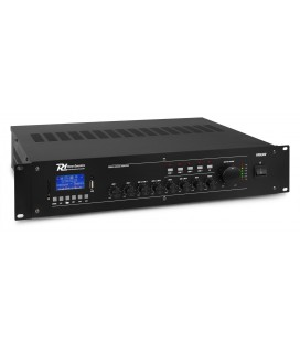 Amplificator Profesional POWER DYNAMICS PRM240, Bluetooth, mixer cu 6 canale si 4 zone, 100V/8 ohm, 240W RMS