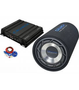 Pachet subwoofer auto CRUNCH POWER TUBE PACK, 250W RMS, 25CM, Bass Reflex