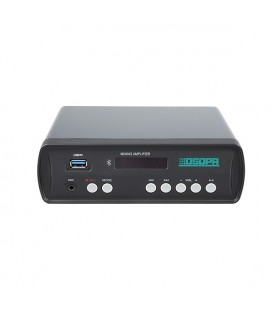 Amplificator stereo DSPPA MINI60, 2x30W RMS, Bluetooth 3.0, USB/SD, 4-16Ω. Tehnologia Class-D