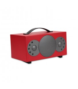 Boxa Wireless portabila TIBO SPHERE 2 RED, Bluetooth, Wi-Fi, Multiroom, Internet Radio, 30W RMS