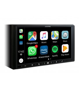 Digital Media Station ALPINE iLX-W650BT, 1DIN, Apple CarPlay, Android Auto, Ectan tactil 7″,  Bluetooth, USB port