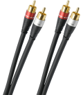 Cablu audio stereo OEHLBACH AUDIOLINK 0.5m, OFC - oxygen-free copper, 24kt gold plated contacts