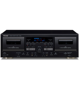 Double Cassette Deck Player hi-fi TEAC W1200 BLACK