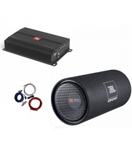 Pachet Subwoofer Auto JBL CS1214T, Amplificator Mono STAGE A3001  si Kit de cabluri de 10mm²
