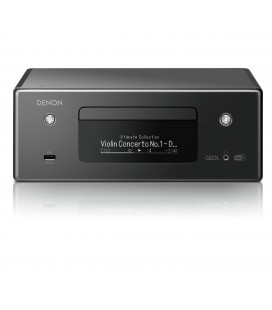 Network Receiver Stereo DENON RCD-N11DAB Black, Wi-Fi, Ethernet, AirPlay 2, Bluetooth®, DAB/DAB+ radio, CD player, HEOS Music