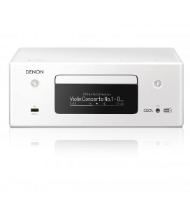 Network Receiver Stereo DENON RCD-N11DAB WHITE, Wi-Fi, Ethernet, AirPlay 2, Bluetooth®, DAB/DAB+ radio, CD player, HEOS Music