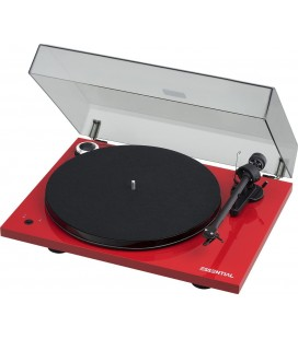 Pickup TURNTABLE hi-fi PRO-JECT ESENTIAL III OM10 RED (DOZA ORTOFON)